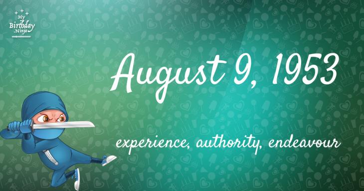 August 9, 1953 Birthday Ninja