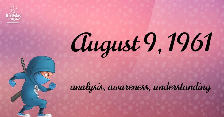 August 9, 1961 Birthday Ninja