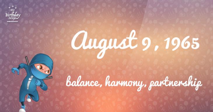 August 9, 1965 Birthday Ninja