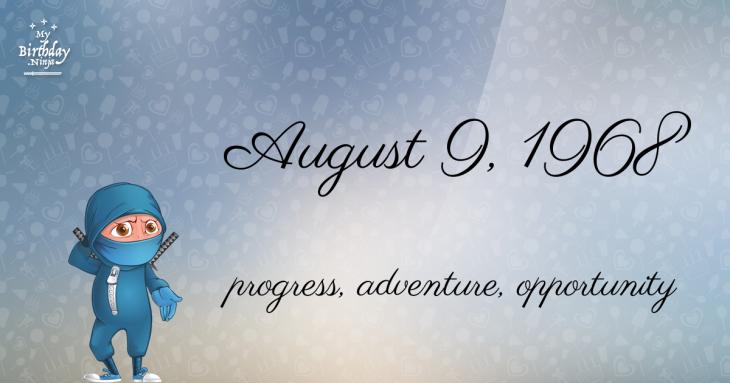 August 9, 1968 Birthday Ninja