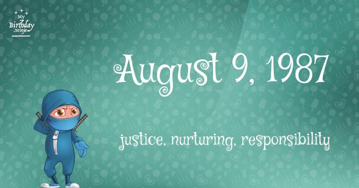 August 9, 1987 Birthday Ninja