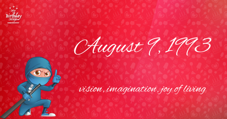 August 9, 1993 Birthday Ninja