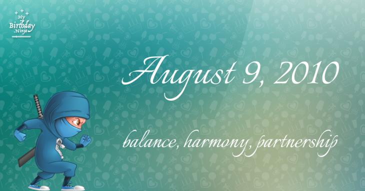 August 9, 2010 Birthday Ninja