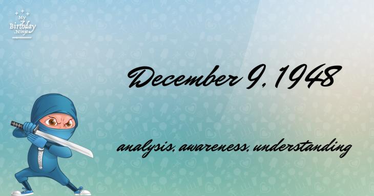 December 9, 1948 Birthday Ninja