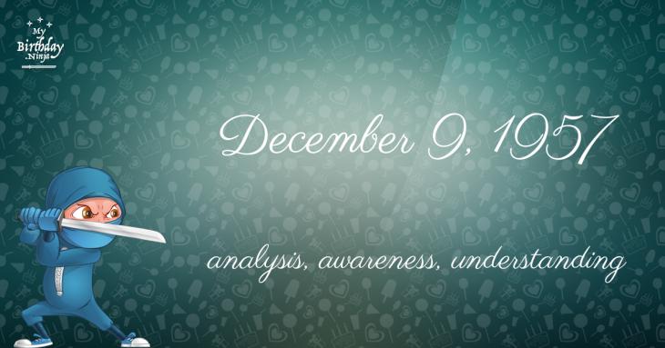 December 9, 1957 Birthday Ninja