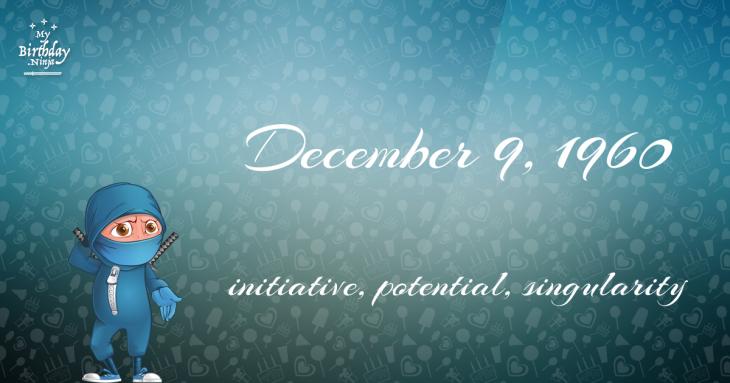 December 9, 1960 Birthday Ninja