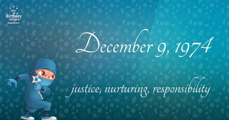 December 9, 1974 Birthday Ninja