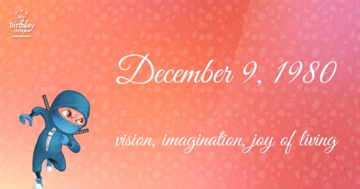 December 9, 1980 Birthday Ninja