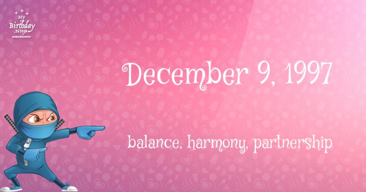 December 9, 1997 Birthday Ninja