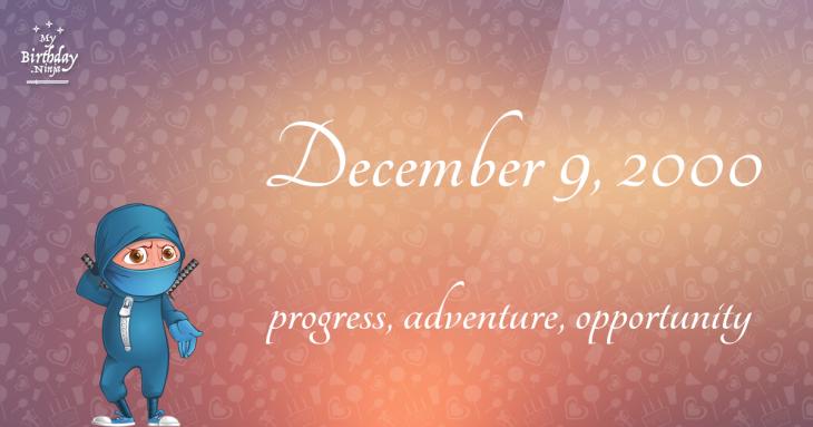 December 9, 2000 Birthday Ninja