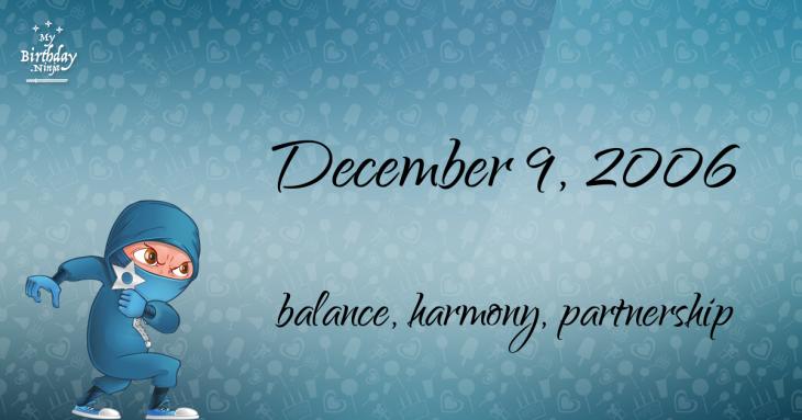 December 9, 2006 Birthday Ninja