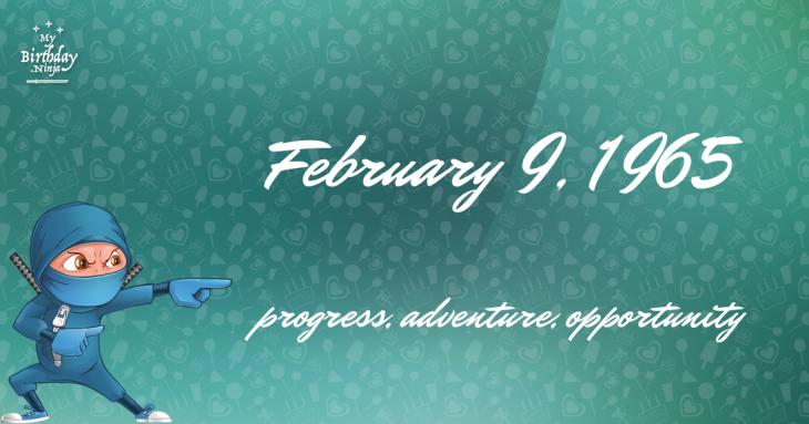 February 9, 1965 Birthday Ninja