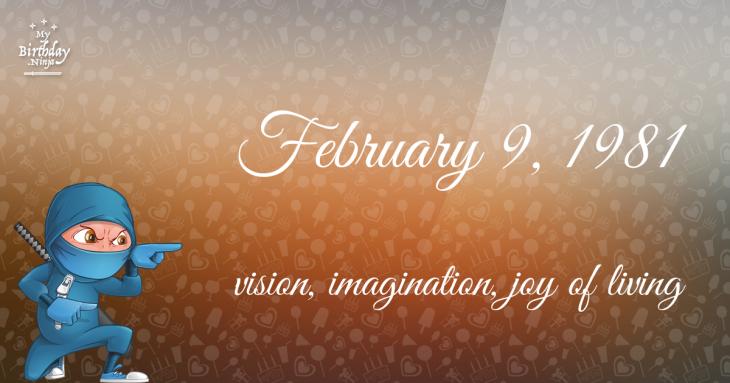 February 9, 1981 Birthday Ninja