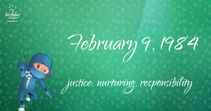 February 9, 1984 Birthday Ninja