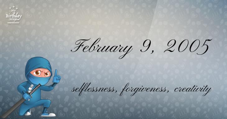 February 9, 2005 Birthday Ninja
