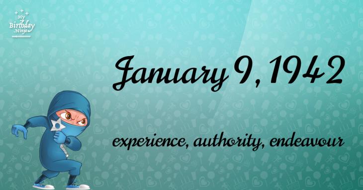 January 9, 1942 Birthday Ninja