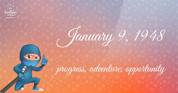 January 9, 1948 Birthday Ninja
