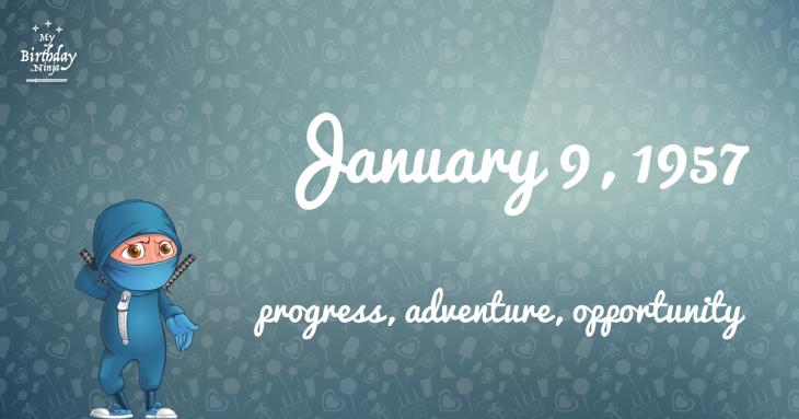January 9, 1957 Birthday Ninja