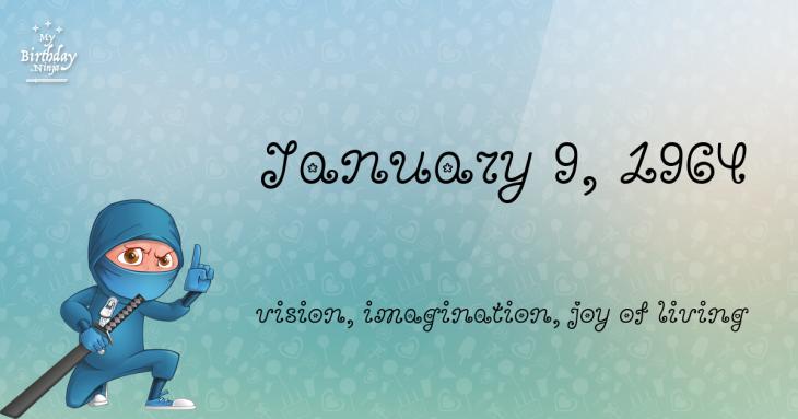 January 9, 1964 Birthday Ninja