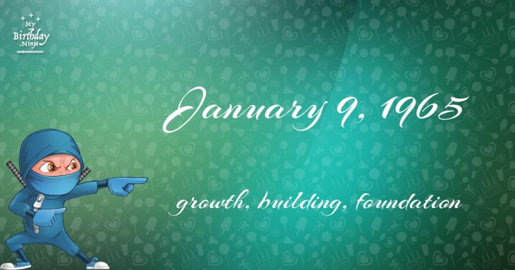 January 9, 1965 Birthday Ninja