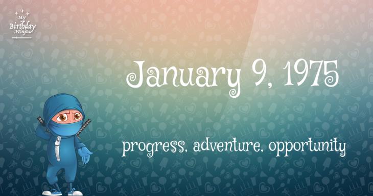 January 9, 1975 Birthday Ninja