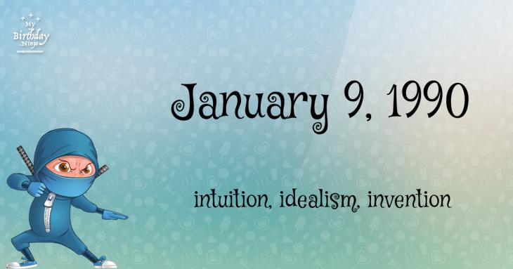 January 9, 1990 Birthday Ninja