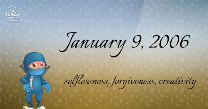 January 9, 2006 Birthday Ninja