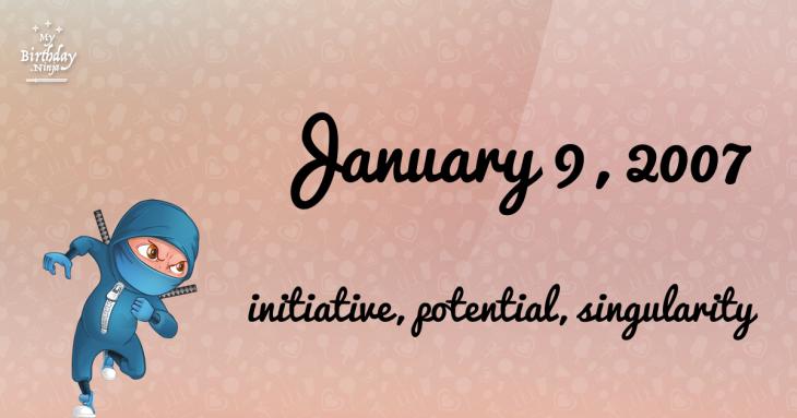 January 9, 2007 Birthday Ninja