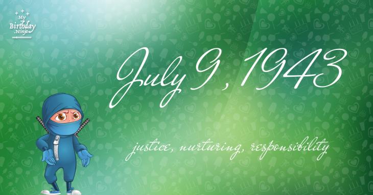 July 9, 1943 Birthday Ninja