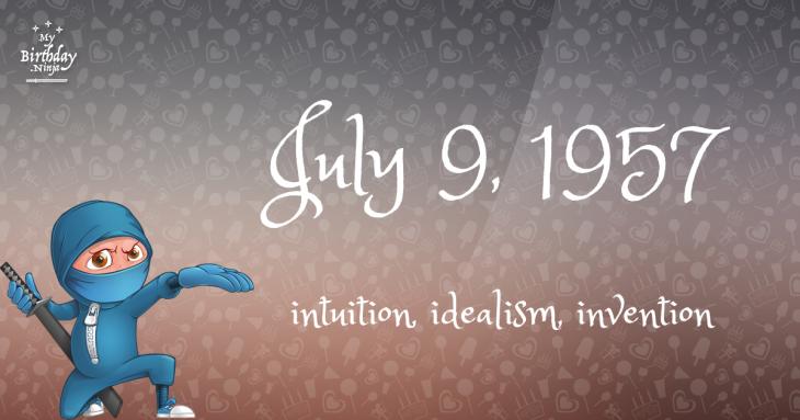 July 9, 1957 Birthday Ninja