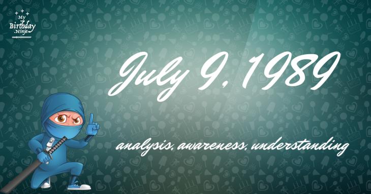 July 9, 1989 Birthday Ninja