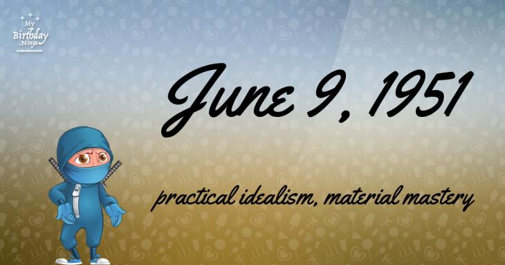 June 9, 1951 Birthday Ninja