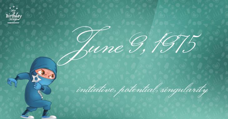 June 9, 1975 Birthday Ninja