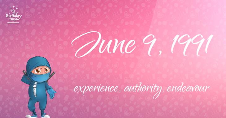 June 9, 1991 Birthday Ninja