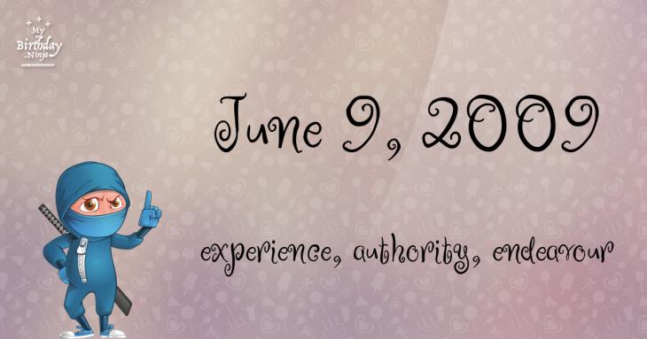 June 9, 2009 Birthday Ninja