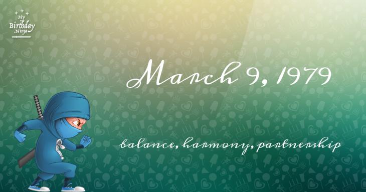 March 9, 1979 Birthday Ninja