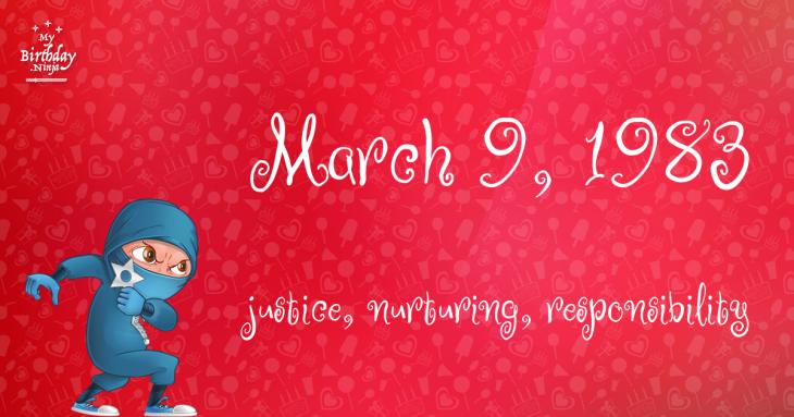March 9, 1983 Birthday Ninja