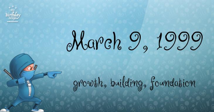 March 9, 1999 Birthday Ninja