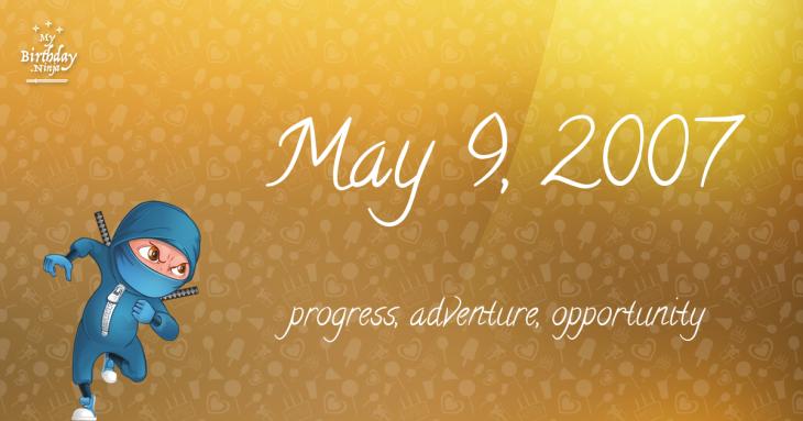 May 9, 2007 Birthday Ninja
