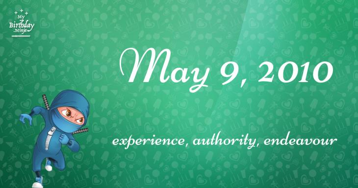 May 9, 2010 Birthday Ninja