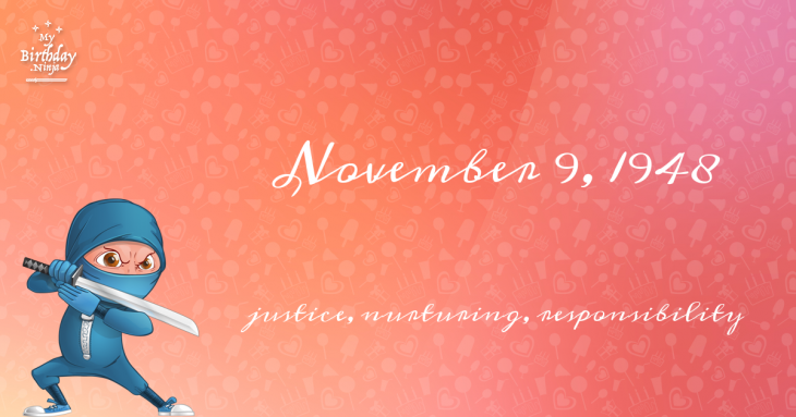 November 9, 1948 Birthday Ninja