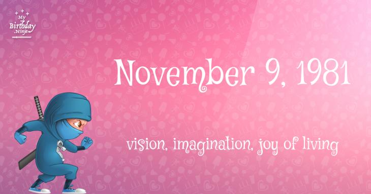 November 9, 1981 Birthday Ninja