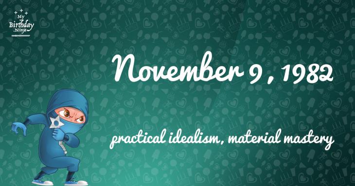 November 9, 1982 Birthday Ninja