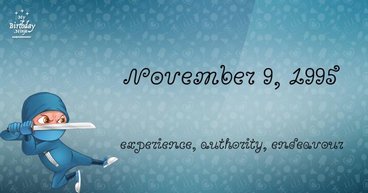 November 9, 1995 Birthday Ninja