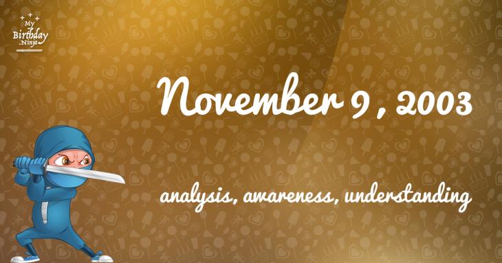 November 9, 2003 Birthday Ninja