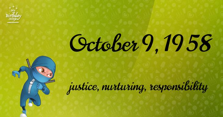 October 9, 1958 Birthday Ninja