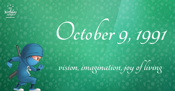 October 9, 1991 Birthday Ninja