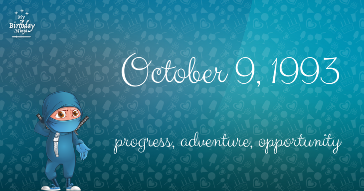 October 9, 1993 Birthday Ninja