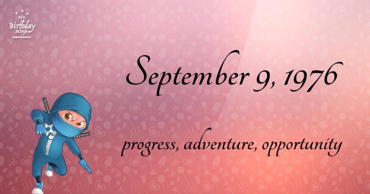 September 9, 1976 Birthday Ninja