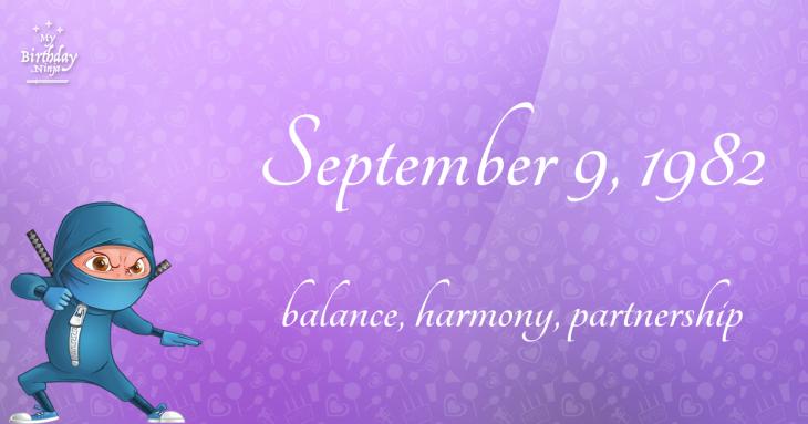 September 9, 1982 Birthday Ninja